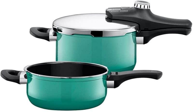 Bộ Nồi Áp Suất Silit Sicomatic T-Plus Duo 4.5+3L Green