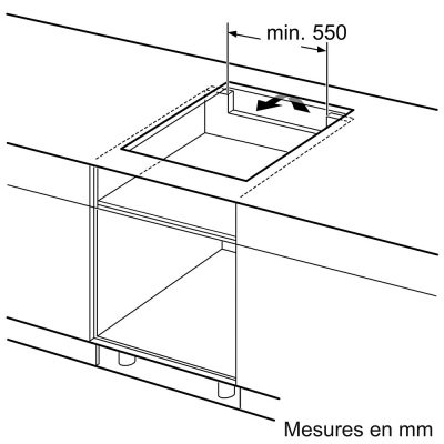 Kích thước lắp đặt Bếp Từ Bosch 560x490