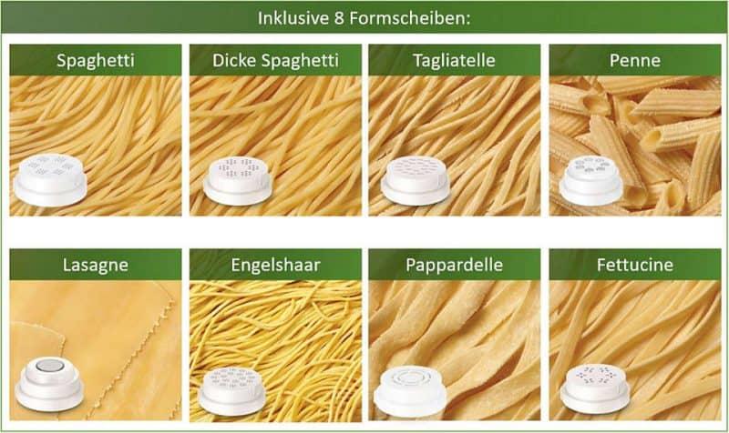 Philips HR238215 làm được 8 loại mì ống khác nhau