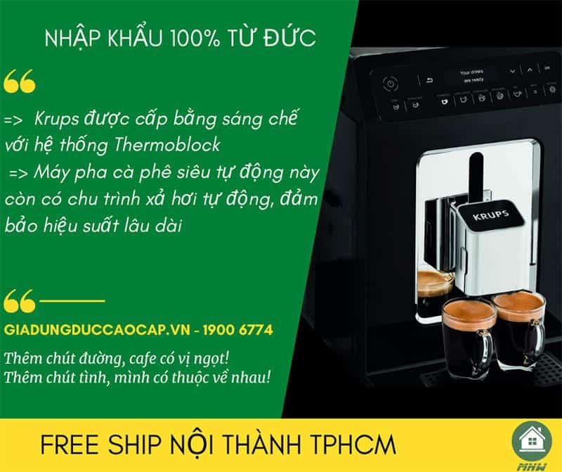 MAY PHA CAFE TU DONG KRUPS EA8918 14 Gia Dụng Đức Sài Gòn