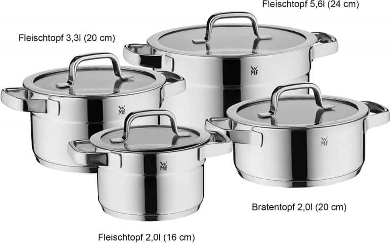 Bộ Nồi Xửng WMF Compact Cuisine Pot Set 20, 4 Món
