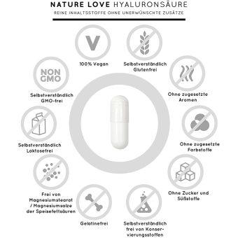 Viên Nang Nature Love Hyaluron 500 - 90 Viên 69g