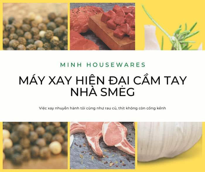 MAY XAY CAM TAY SMEG HBF02RDEU4 Gia Dụng Đức Sài Gòn