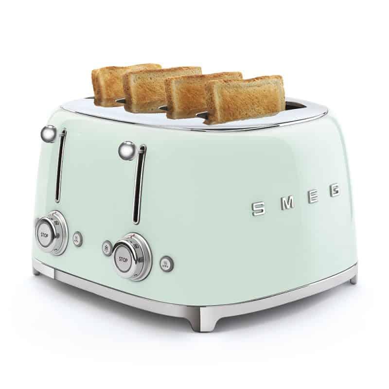 Máy Nướng Bánh Mỳ Smeg TSF03PGEU Pastel Green