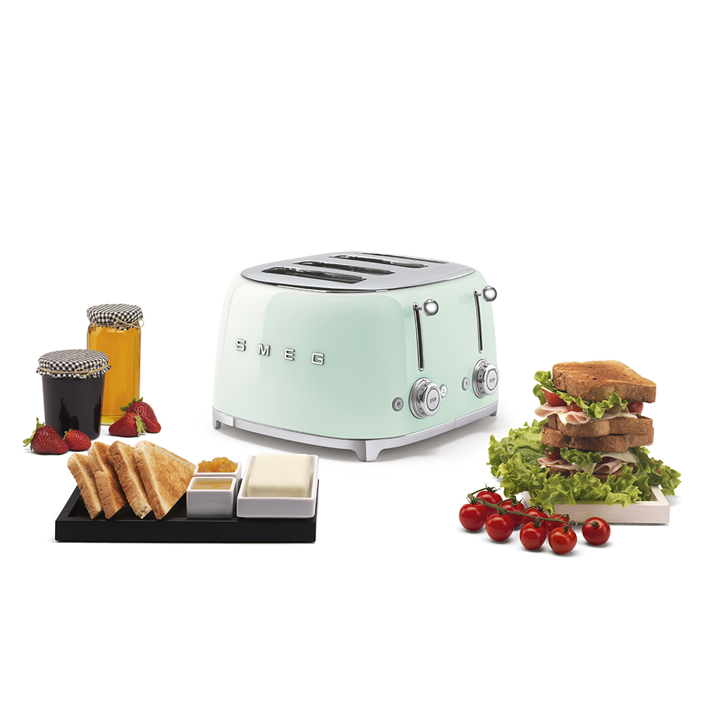 Máy Nướng Bánh Mì Smeg TSF03PGEU Pastel Green
