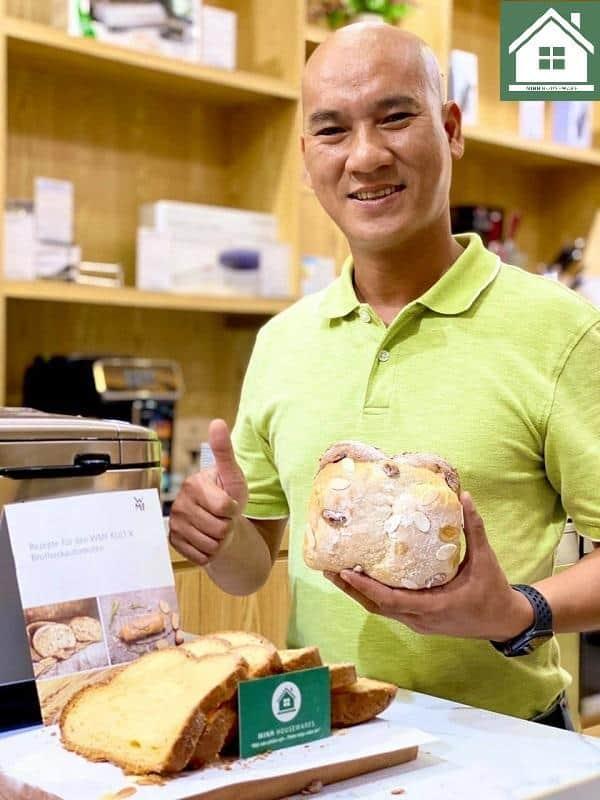 làm bánh mì hoa cúc bằng máy làm bánh mì WMF Kult X