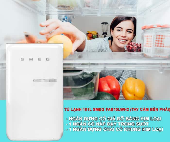 TU LANH 101L SMEG FAB10LWH22 Gia Dụng Đức Sài Gòn