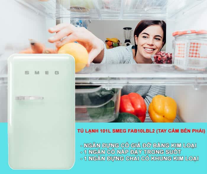TU LANH 101L SMEG FAB10RPG24 Gia Dụng Đức Sài Gòn