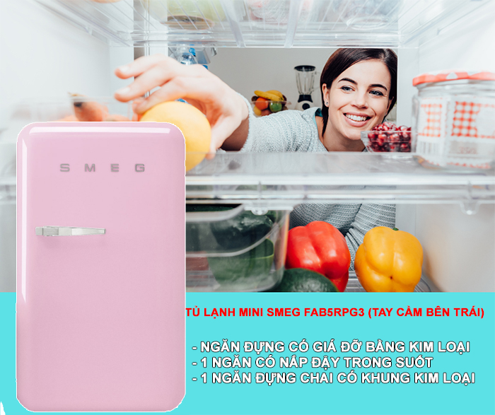 TU LANH 101L SMEG FAB10RPK22 Gia Dụng Đức Sài Gòn