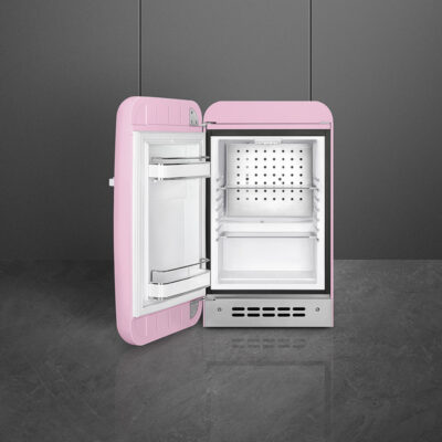 tủ lạnh mini smeg FAB5LPK3 màu hồng tay cầm bên phải
