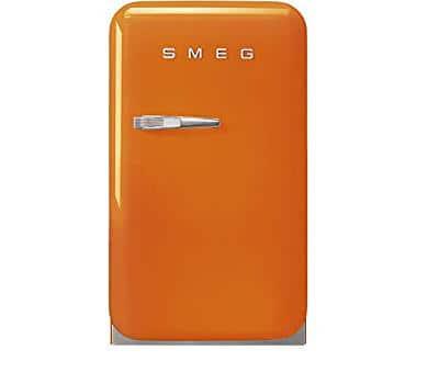 TỦ LẠNH MINI SMEG SMEG FAB5ROR3 màu cam tay cầm bên trái