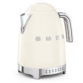 Ấm đun nước SMEG KLF04CREU màu kem với thiết kế các nút sáng nhiệt độ trực quan