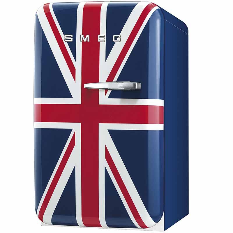 TỦ LẠNH MINI SMEG FAB5LDUJ3 tay cầm bên phải hình lá cờ Anh