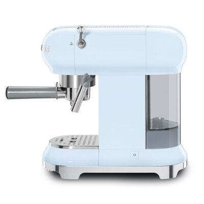 MÁY PHA CAFE SMEG ECF01PBEU màu xanh dương pastel siêu đa năng, giúp bạn có những tách cafe hoàn hảo nhất