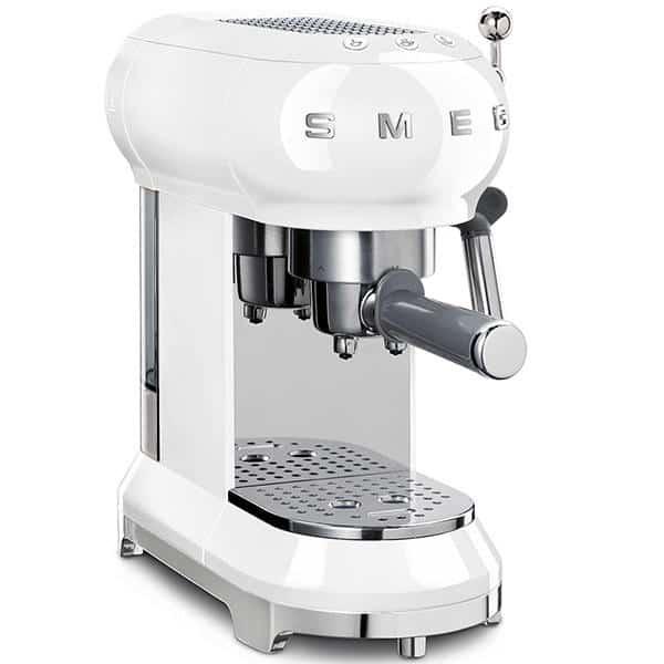 MÁY PHA CAFE SMEG ECF01WHEU màu trắng siêu đa năng, giúp bạn có những tách cafe hoàn hảo nhất