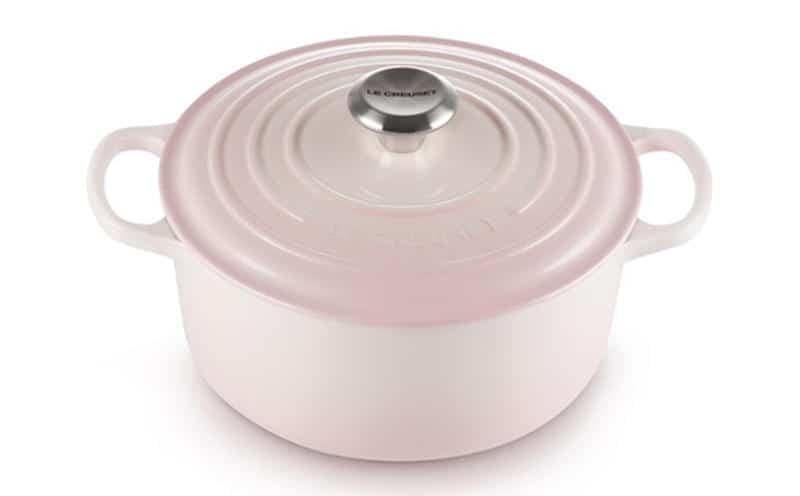 Nồi Gang LeCreuset Bräter rund Evo 24cm Shell Pink