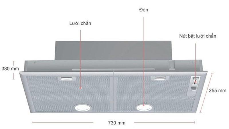 Máy Hút Mùi Âm Tủ Bosch DHL755BL Series 4