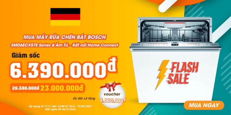 Giảm Giá Sốc Máy Rửa Bát Bosch SMD6ECX57E