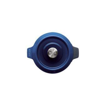 cast iron pot 24 cm chiliredcobalt blue woll iron 124ci Gia Dụng Đức Sài Gòn