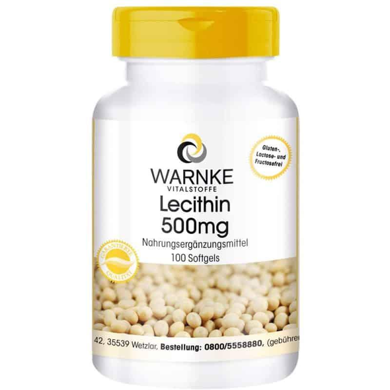 Viên Nang Warnke Vitalstoffe Lecithin 500mg - 100 Viên