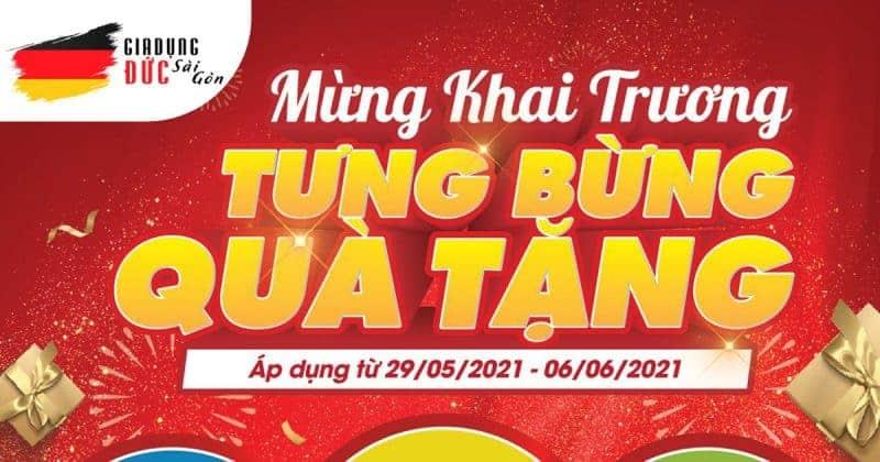 Banner Tưng Bừng Khai Trương Chi Nhánh Gia Dụng Đức Sài Gòn tại Quận 7