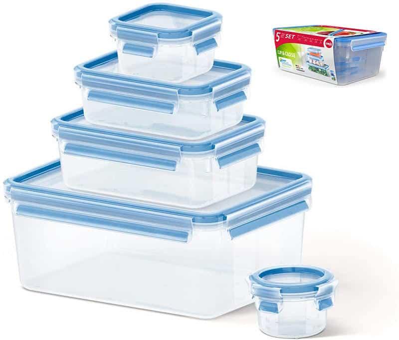 Bộ 5 Hộp Nhựa Đựng Thực Phẩm Emsa 508568