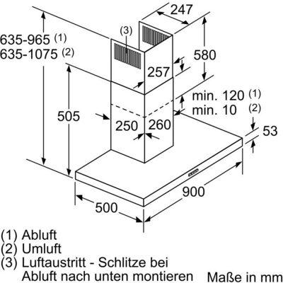 Máy Hút Mùi Treo Tường Bosch DWB96BC50 Series 212