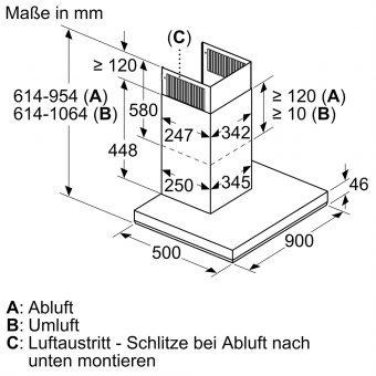 Máy Hút Mùi Treo Tường Bosch DWB97LM50 Series 66