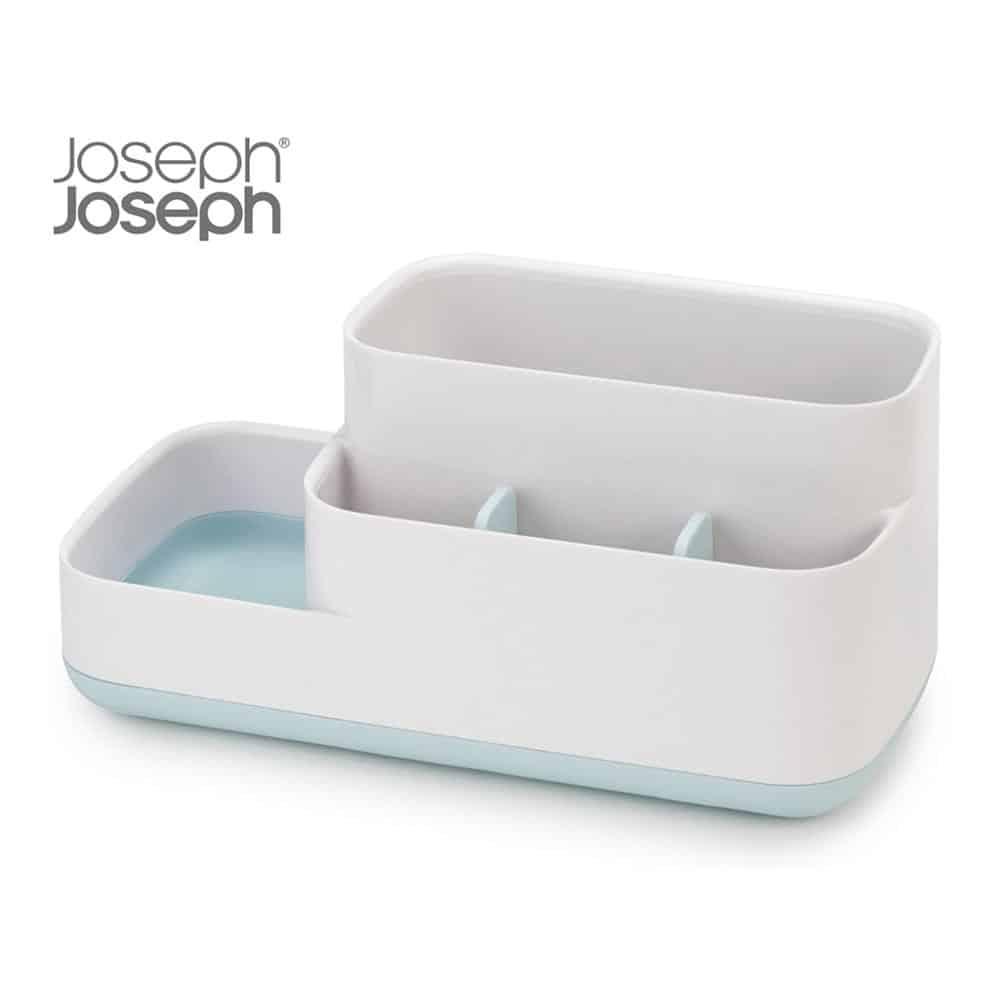 Khay Đựng Bàn Chải Mỹ Phẩm Nhà Tắm Joseph Joseph 70504 EasyStore Trắng Xanh