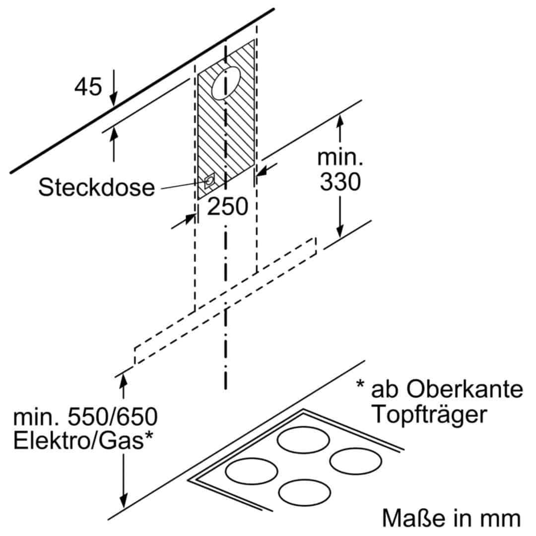 Máy Hút Mùi Treo Tường Bosch DWB67LM50ấf