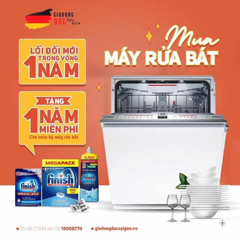 khuyến mãi mua máy rửa chén bosch