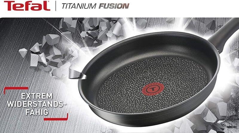Chảo Sâu Lòng Tefal Titanium Fusion G12419 Wok 28cm