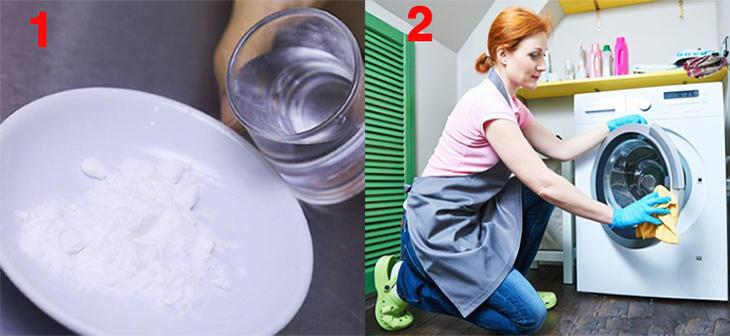 Sử dụng baking soda để vệ sinh máy giặt