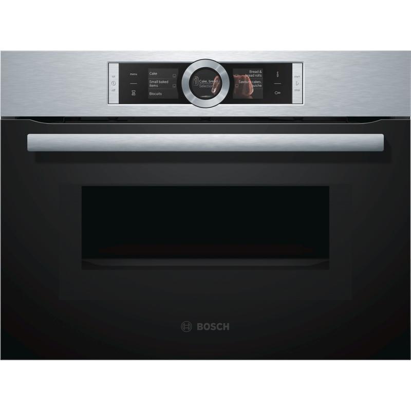 Lò nướng kèm vi sóng âm tủ Bosch CMG636BS1 Serie 8