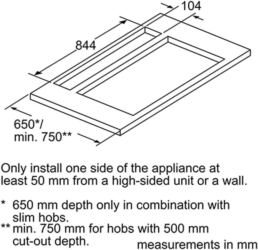 Máy Hút Mùi Âm Bàn Bếp Bosch DDD97BM60B Series 8
