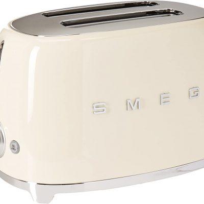 Máy Nướng Bánh Mì Smeg TSF01CREU Cream