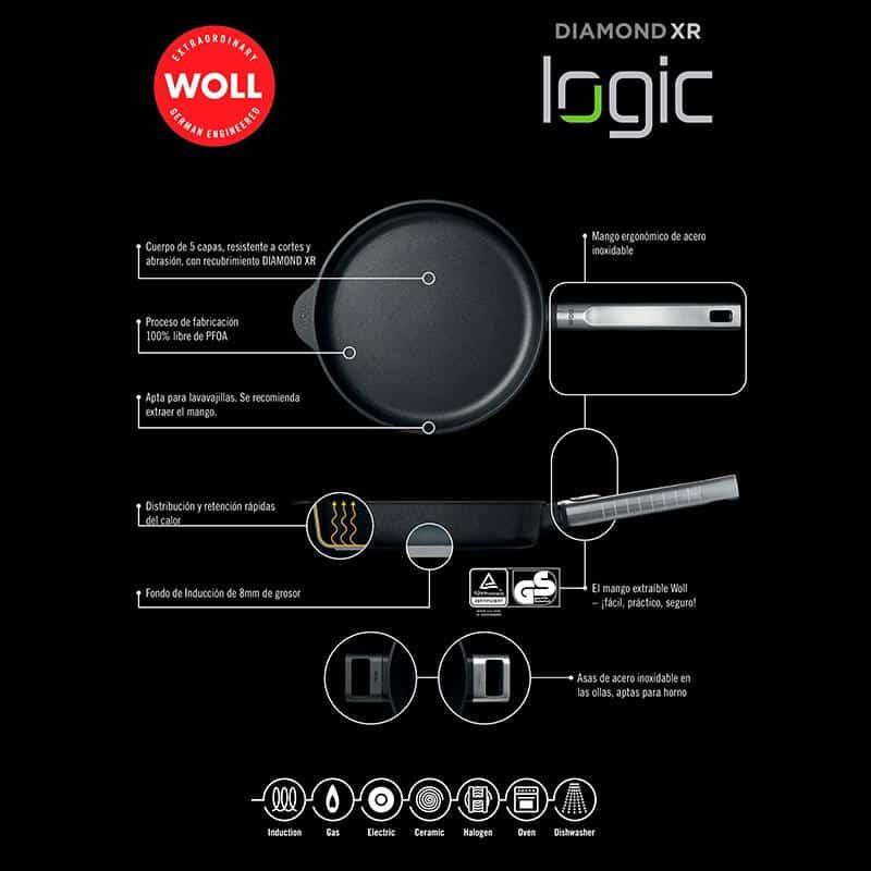 Chảo Woll Diamond XR Logic Wok And Stir Fry Pans 28cm - 2