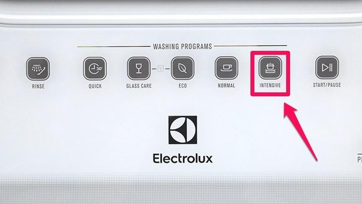 chương trình rửa của máy rửa chén electrolux