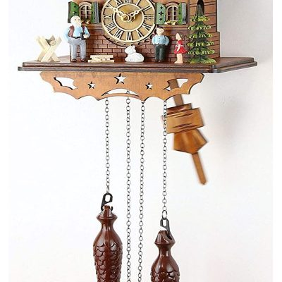 Đồng Hồ Cuckoo Clock Real Wood Battery Operated Quartz Movement Music 60820000
