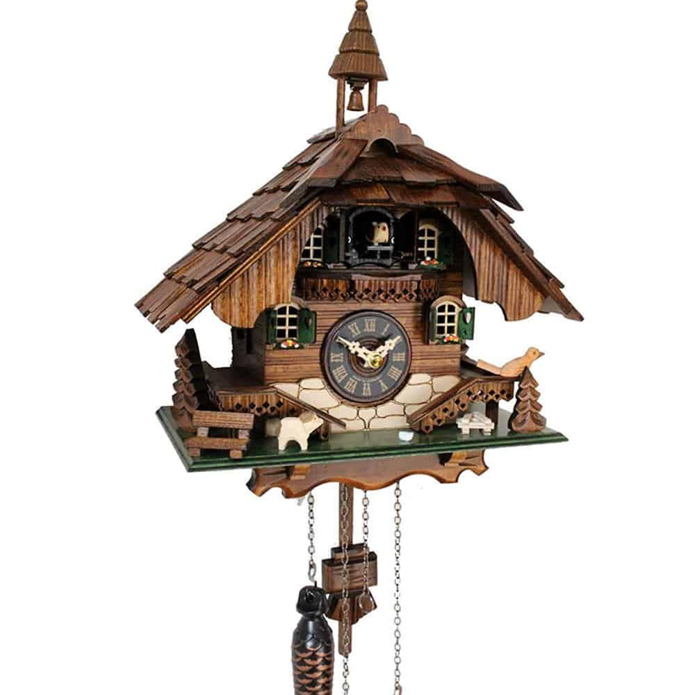 Đồng Hồ Cuckoo Quartz 444 Black Forest Clock Bell Tower