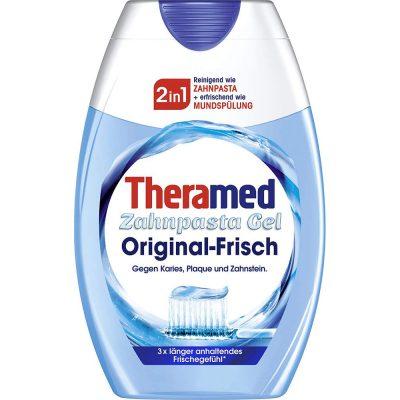 Kem Đánh Răng Theramed 2-In-1 Original Frisch Zahnpasta Gel 75ml Màu Xanh