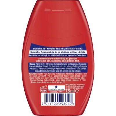 Kem Đánh Răng Theramed 2-In-1 Komplett Plus Màu Đỏ