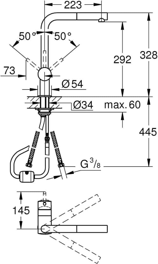 Vòi Bồn Rửa Grohe L-Spout 32168000