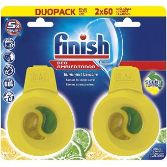 Khử Mùi Máy Rửa Bát Finish DuoPack 2x60