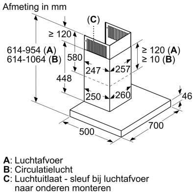 Máy Hút Mùi Bosch DWB77CM50 Series 6 - 70cm