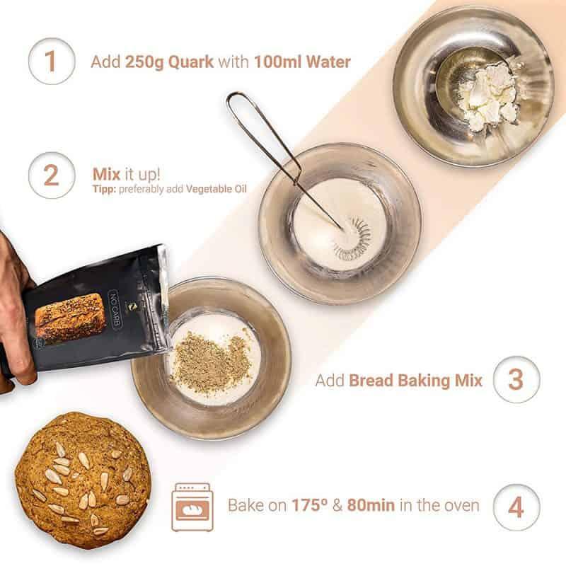 Hỗn Hợp Bột Làm Bánh Mì Nutringo Protein Backmischung