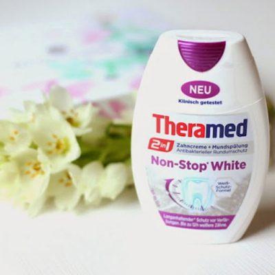 Kem Đánh Răng Theramed 2-In-1 Non Stop WeiB Màu Trắng