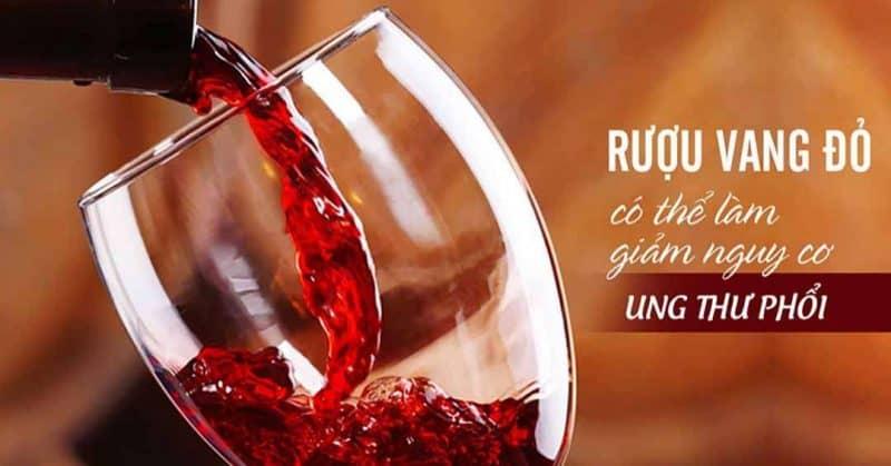 uống rượu vang ngăn ngừa ung thư hiệu quả