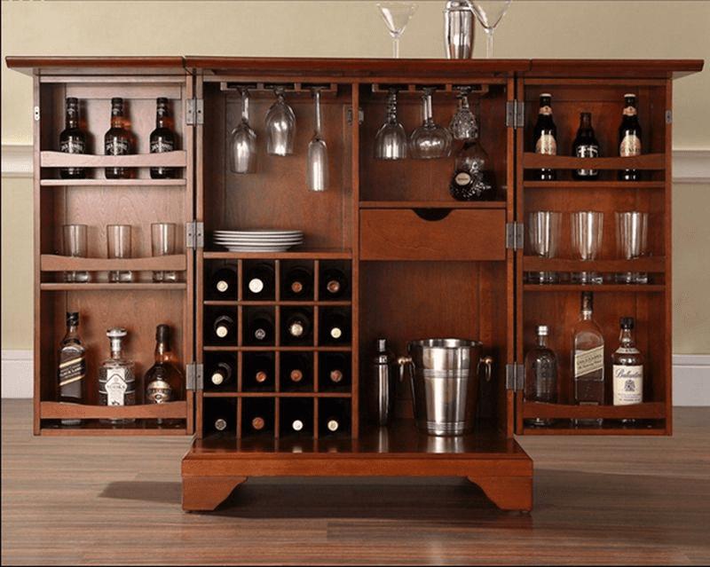 Các mẫu tủ rượu bằng gỗ đẹp nhất 2021