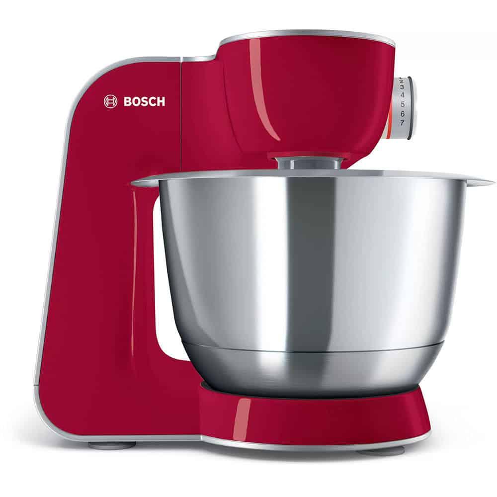 Máy Trộn Bột Đa Năng Bosch MUM58720 Màu Đỏ Bạc